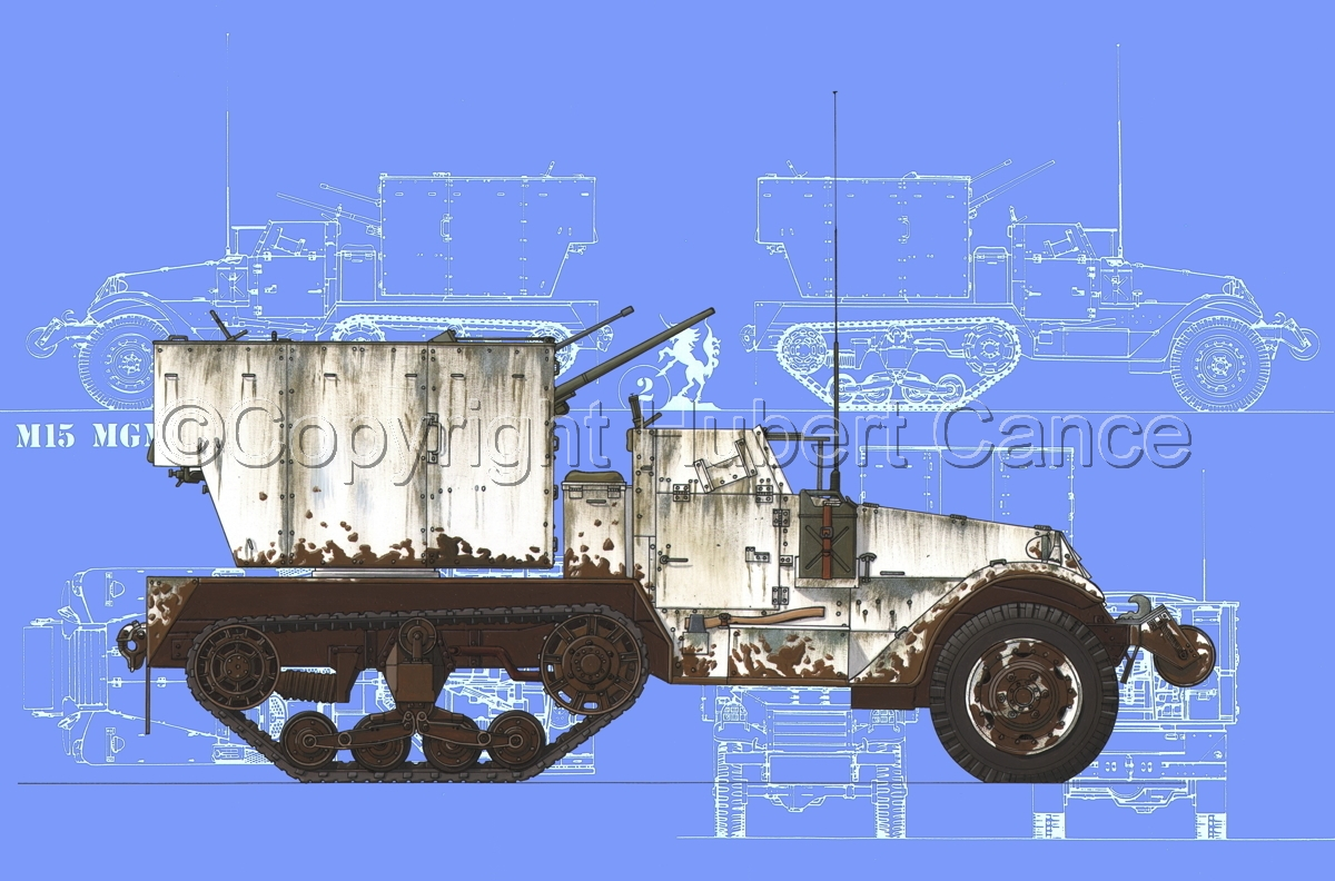M15 MGMC Half-Track (Blueprint #2) (large view)