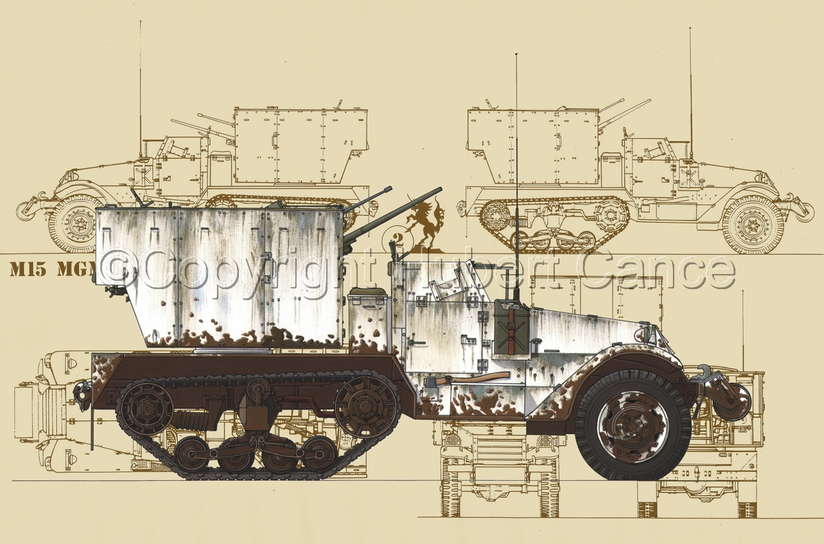 M15 MGMC Half-Track (Blueprint #5) (large view)