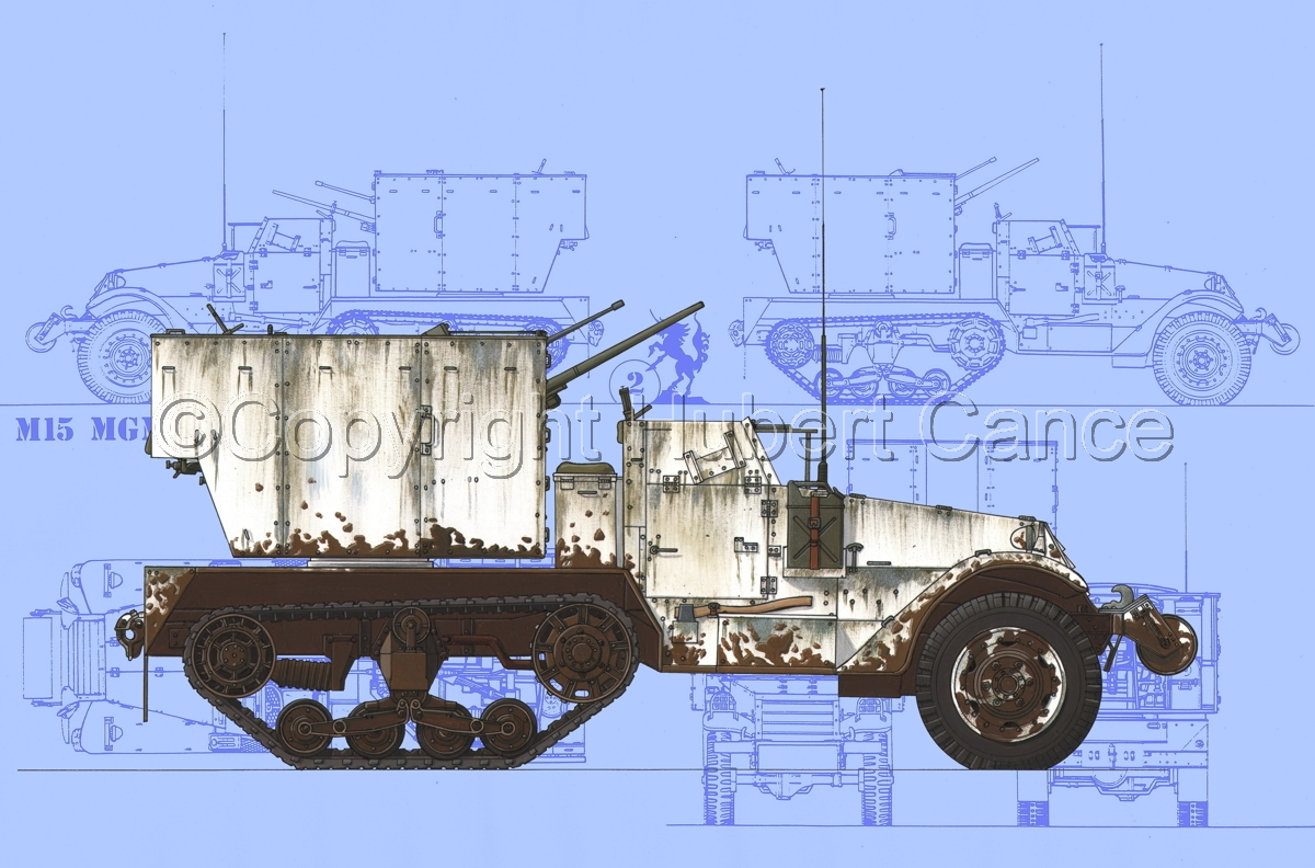M15 MGMC Half-Track (Blueprint #1) (large view)