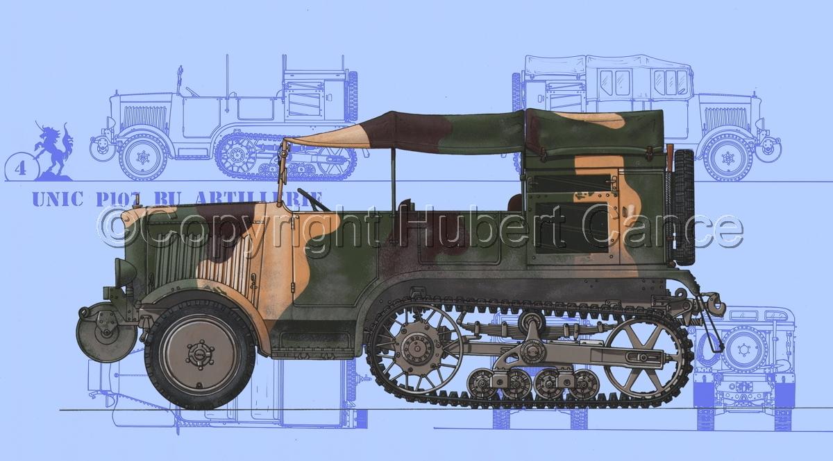 Unic P-107 BU Artillerie (Blueprint #1) (large view)