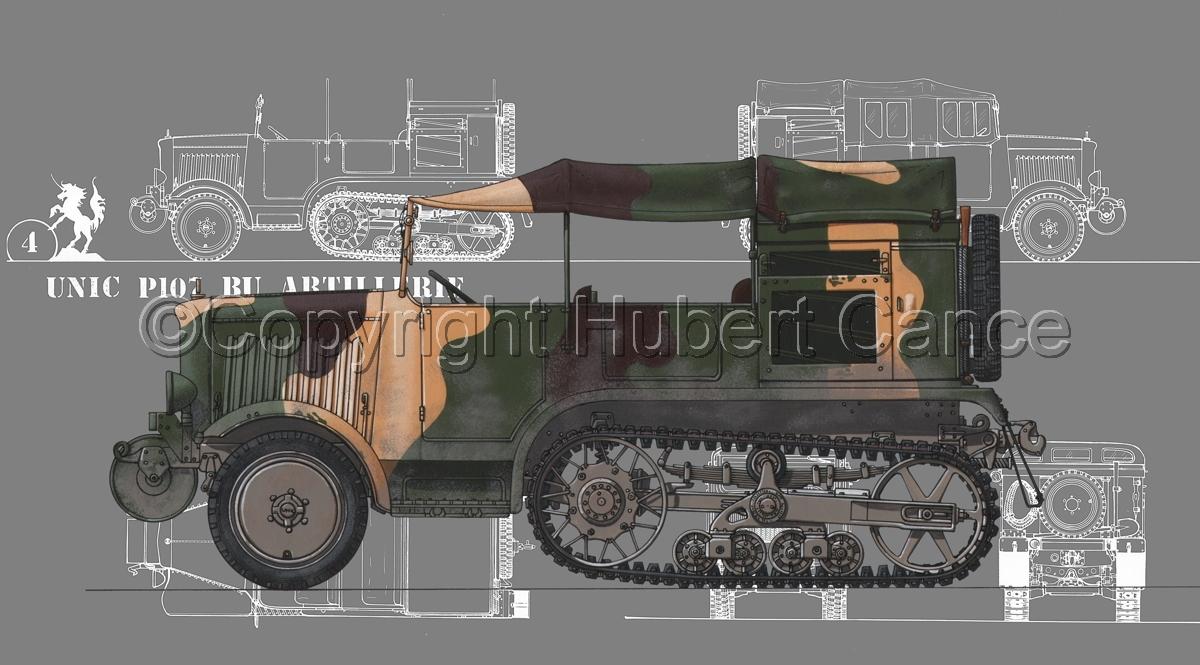 Unic P-107 BU Artillerie (Blueprint #4) (large view)