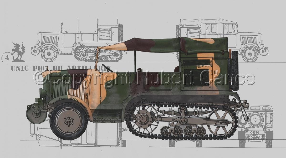 Unic P-107 BU Artillerie (Blueprint #3) (large view)