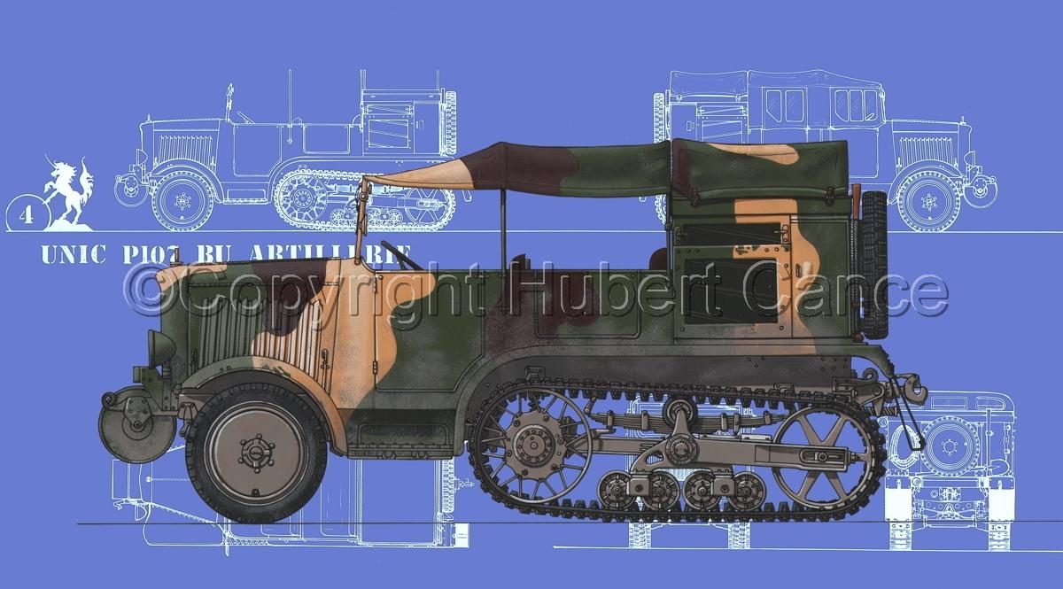 Unic P-107 BU Artillerie (Blueprint #2) (large view)