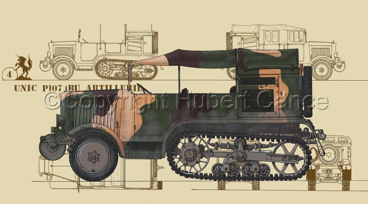 Unic P-107 BU Artillerie (Blueprint #5) (large view)