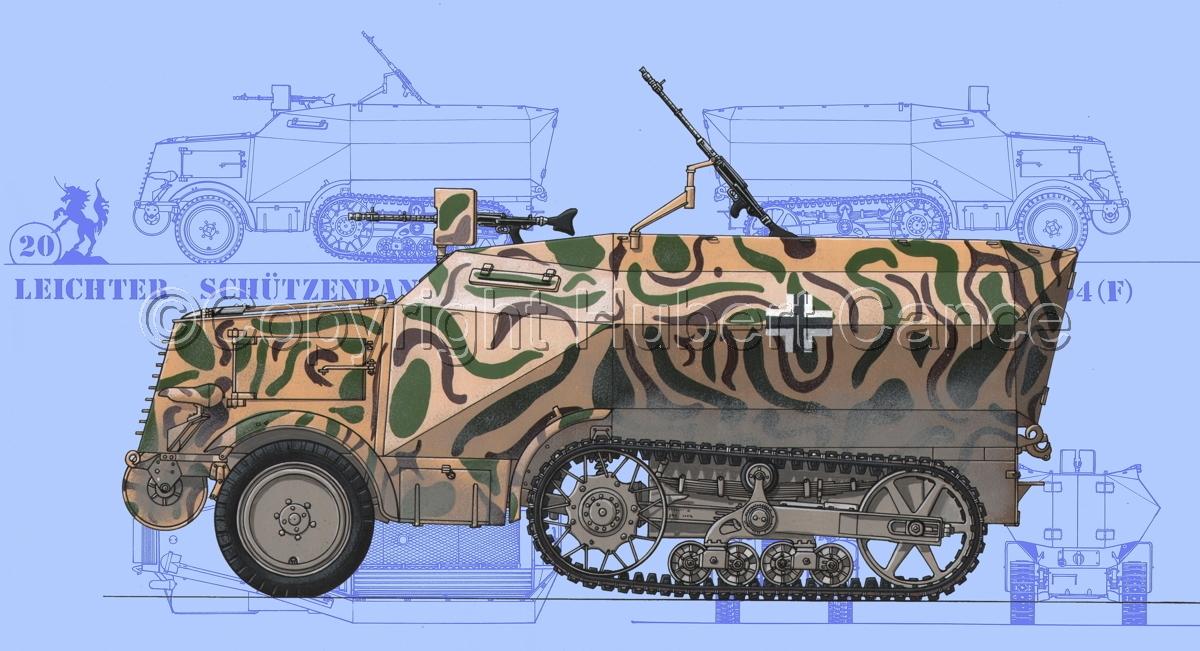 Leichter Schützenpanzerwagen (2.Ausf.) auf Unic P-107 U.304(f) (Blueprint #1) (large view)