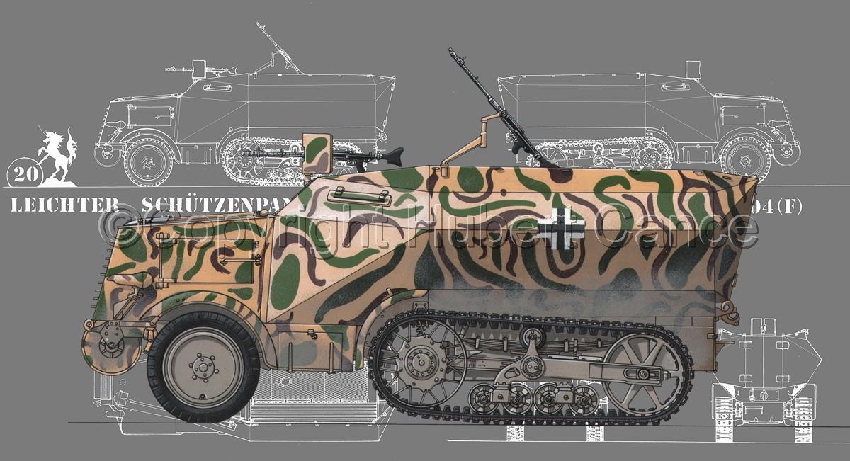 Leichter Schützenpanzerwagen (2.Ausf.) auf Unic P-107 U.304(f) (Blueprint #4) (large view)
