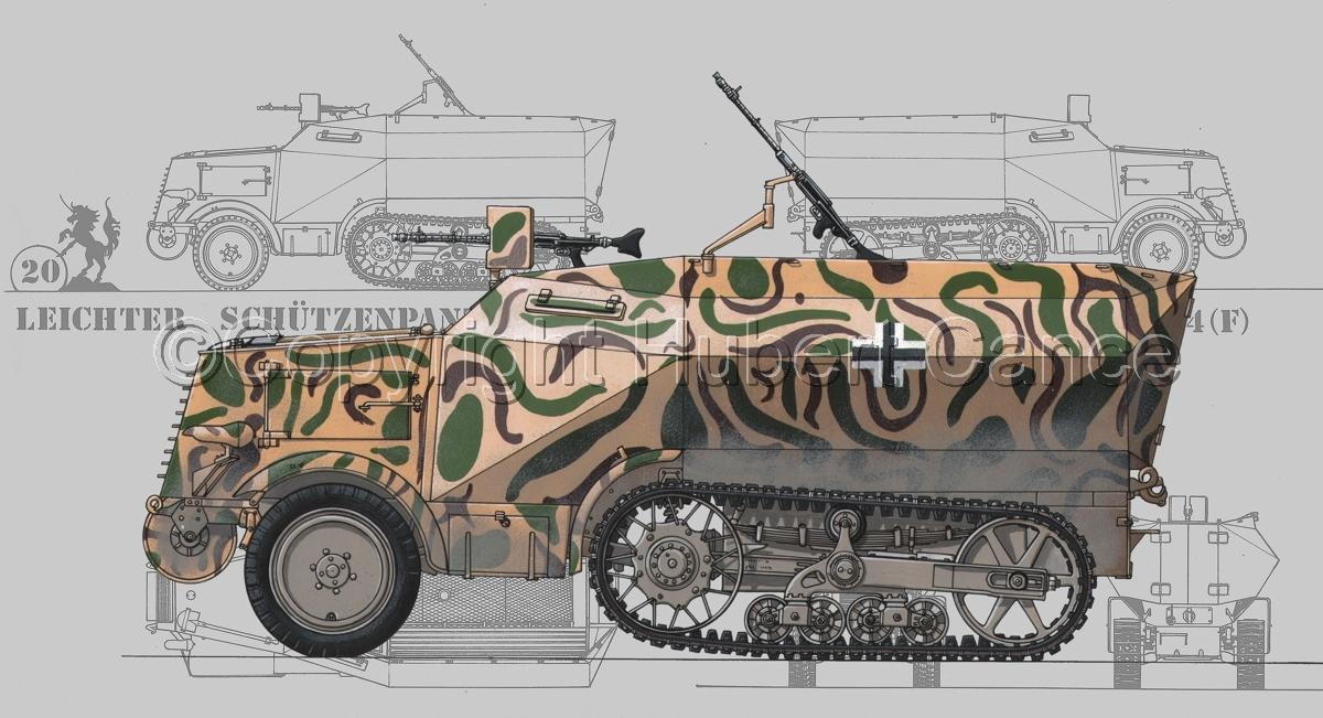 Leichter Schützenpanzerwagen (2.Ausf.) auf Unic P-107 U.304(f) (Blueprint #3) (large view)