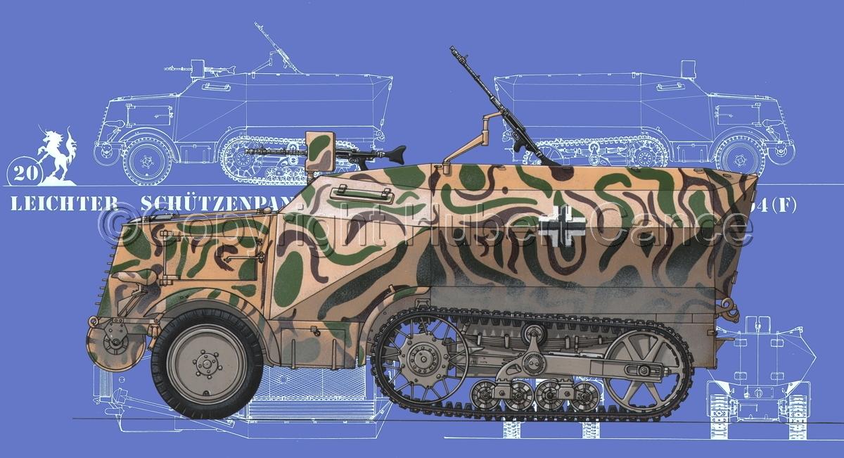 Leichter Schützenpanzerwagen (2.Ausf.) auf Unic P-107 U.304(f) (Blueprint #2) (large view)