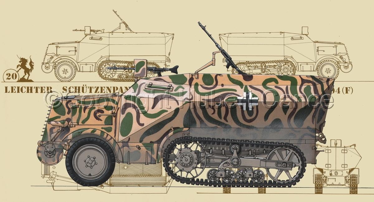 Leichter Schützenpanzerwagen (2.Ausf.) auf Unic P-107 U.304(f) (Blueprint #5) (large view)