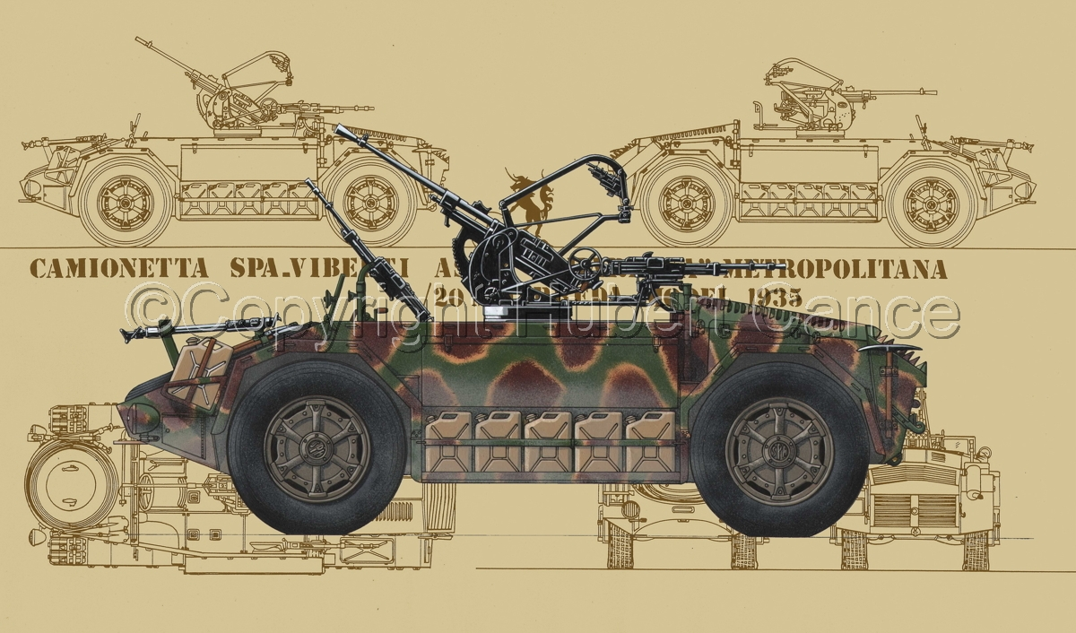 "Camionetta AS42 ""Sahariana II"" ""Metropolitana"" (Blueprint #5) (large view)"