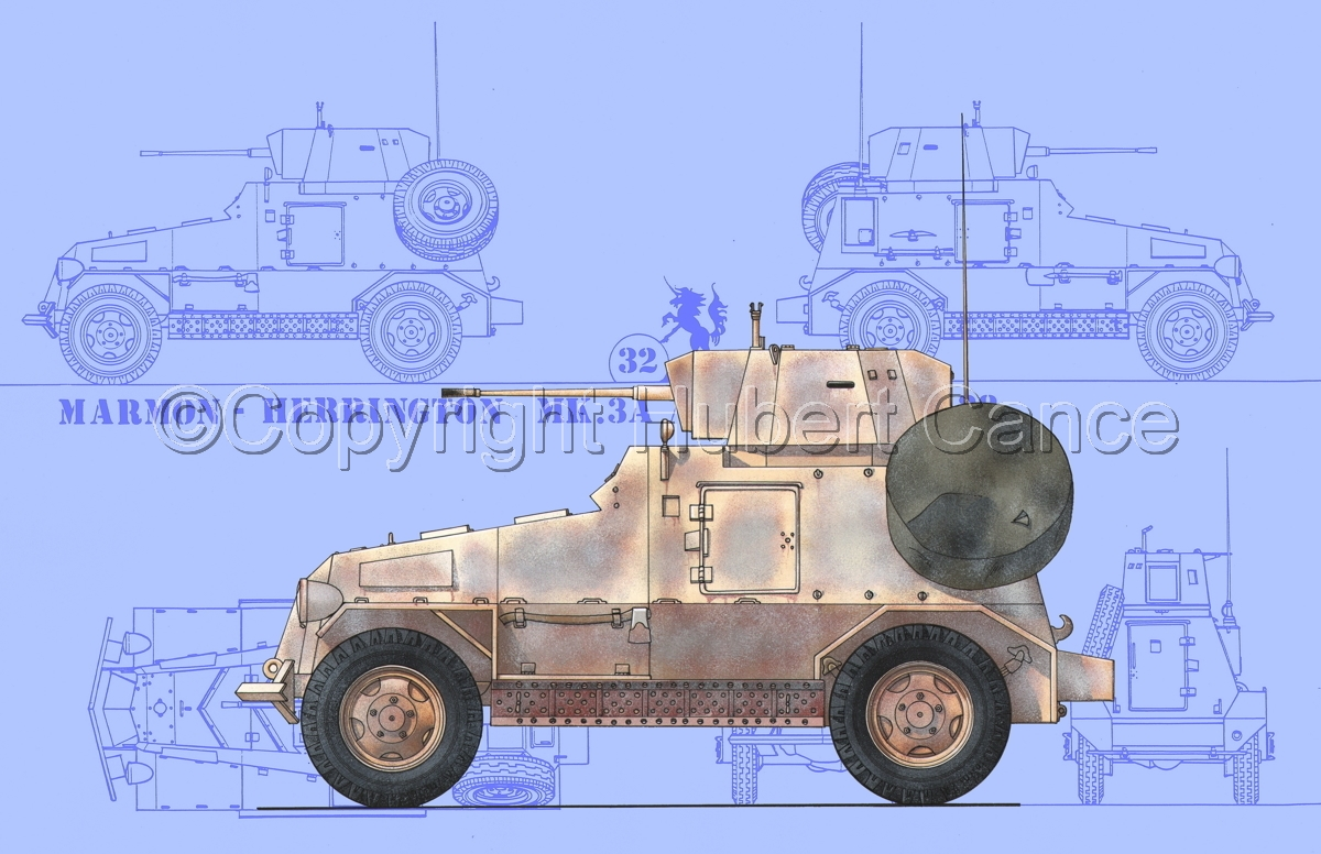 Marmon-Herrington Mk.IIIa ME (2 cm Flak 38) (Blueprint #1) (large view)