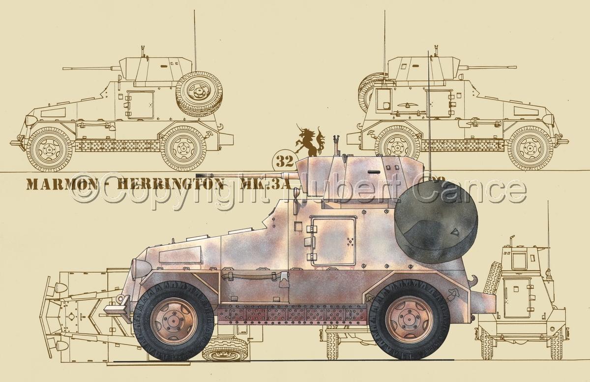 Marmon-Herrington Mk.IIIa ME (2 cm Flak 38) (Blueprint #5) (large view)