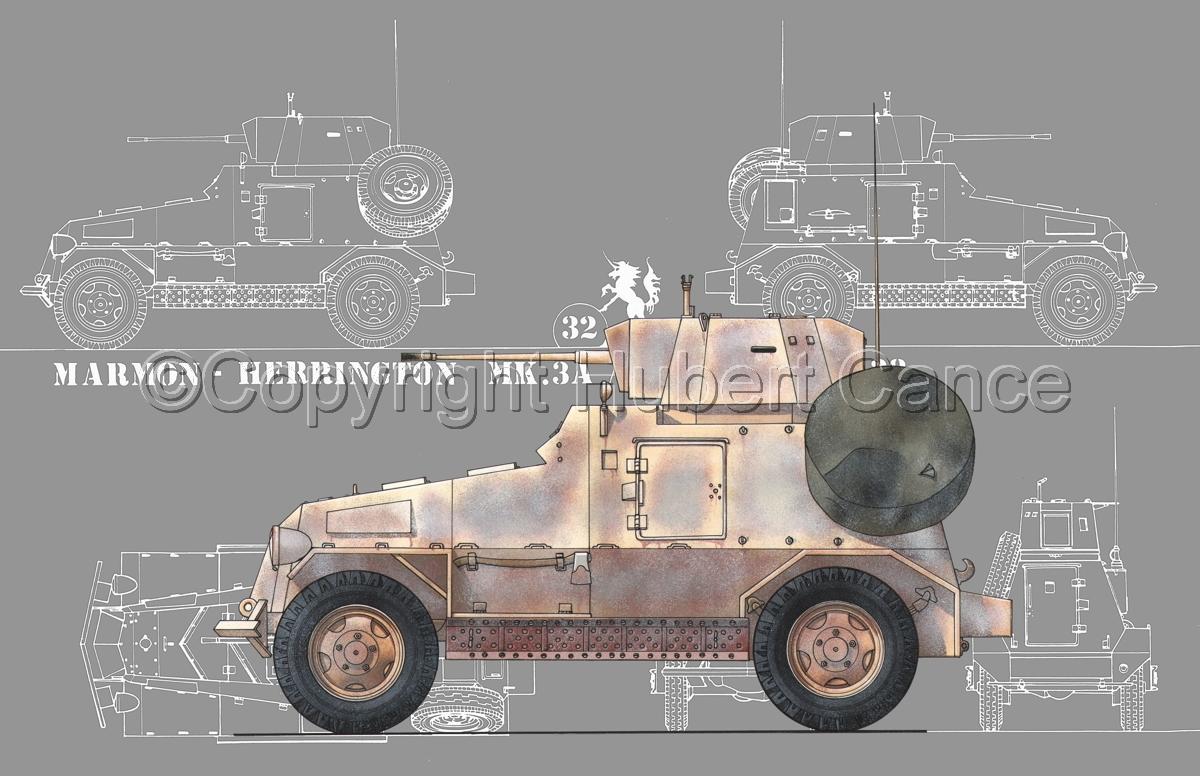 Marmon-Herrington Mk.IIIa ME (2 cm Flak 38) (Blueprint #4) (large view)