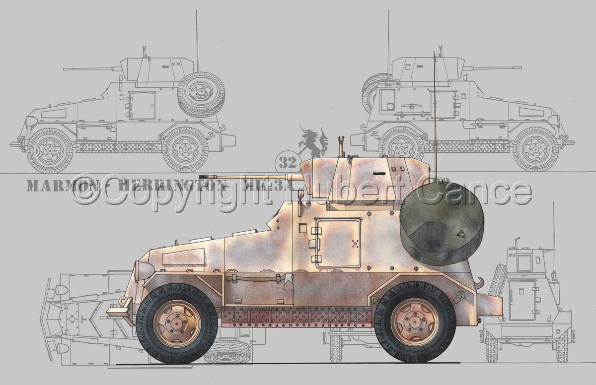 Marmon-Herrington Mk.IIIa ME (2 cm Flak 38) (Blueprint #3) (large view)