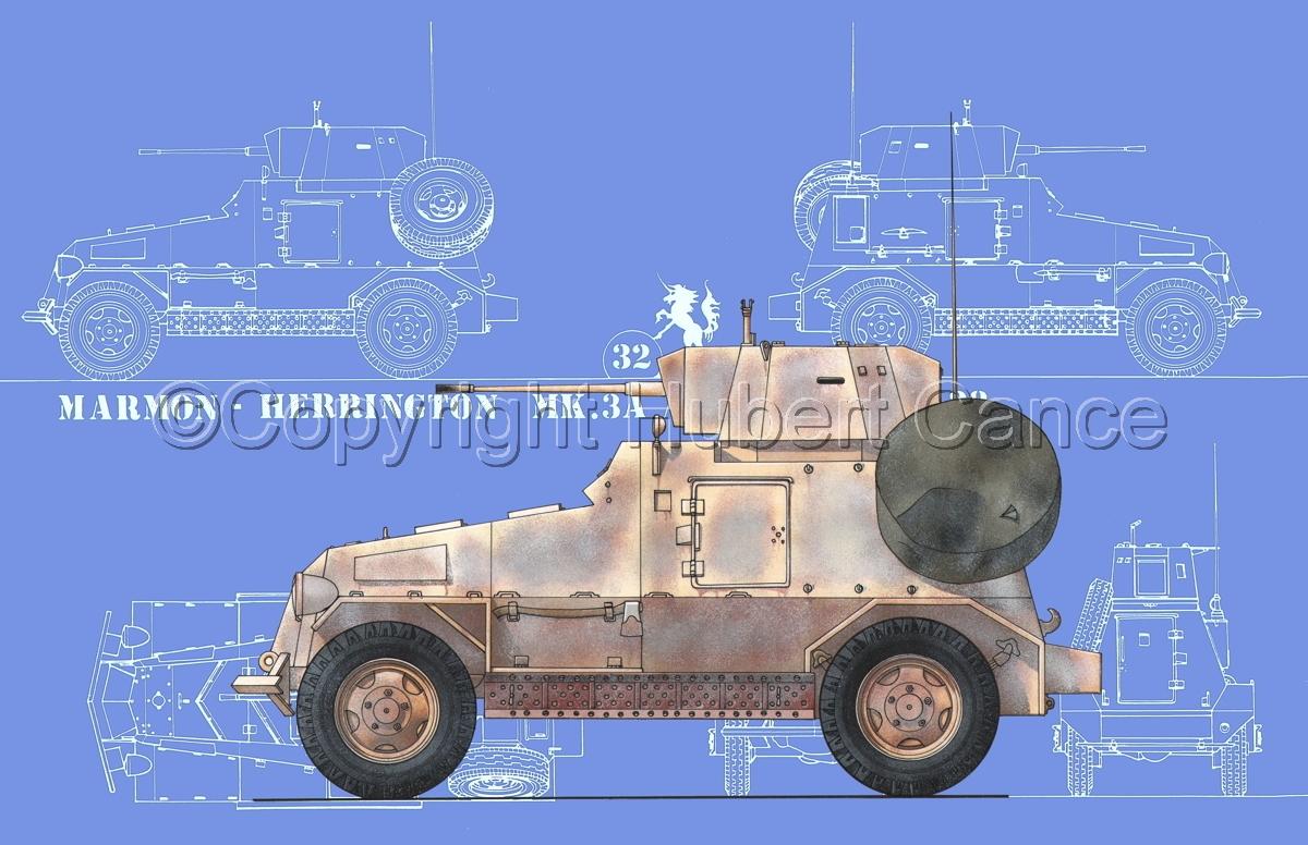 Marmon-Herrington Mk.IIIa ME (2 cm Flak 38) (Blueprint #2) (large view)