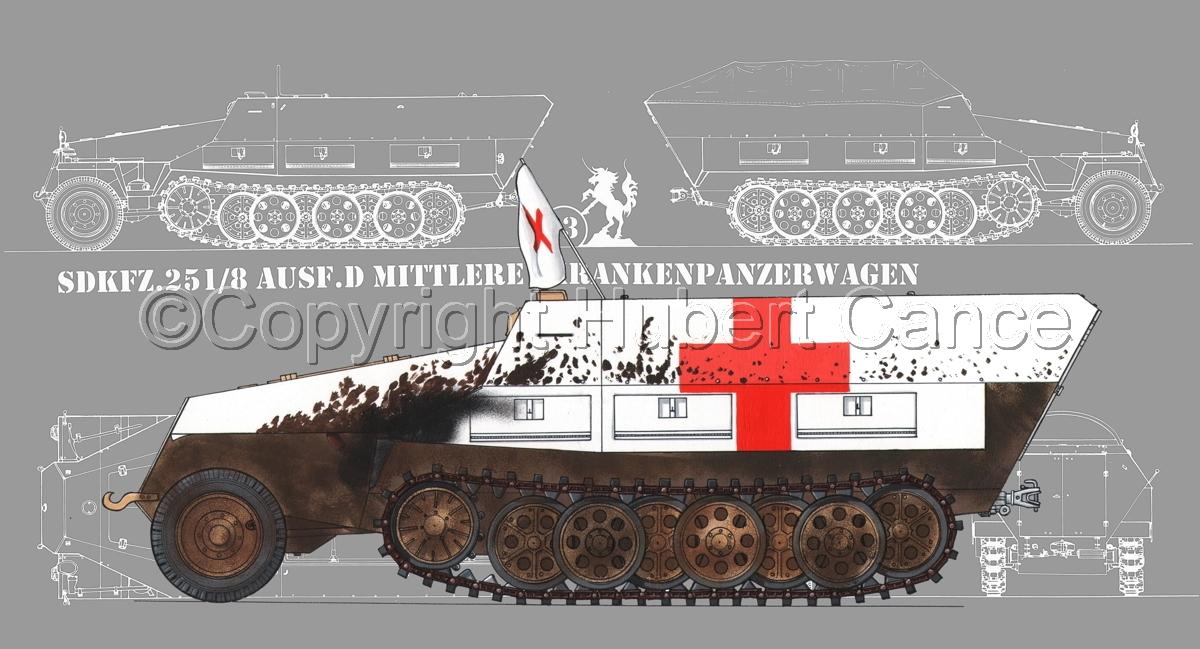 SdKfz.251/8 Ausf.D Mittlerer Krankenpanzerwagen (Blueprint #4) (large view)