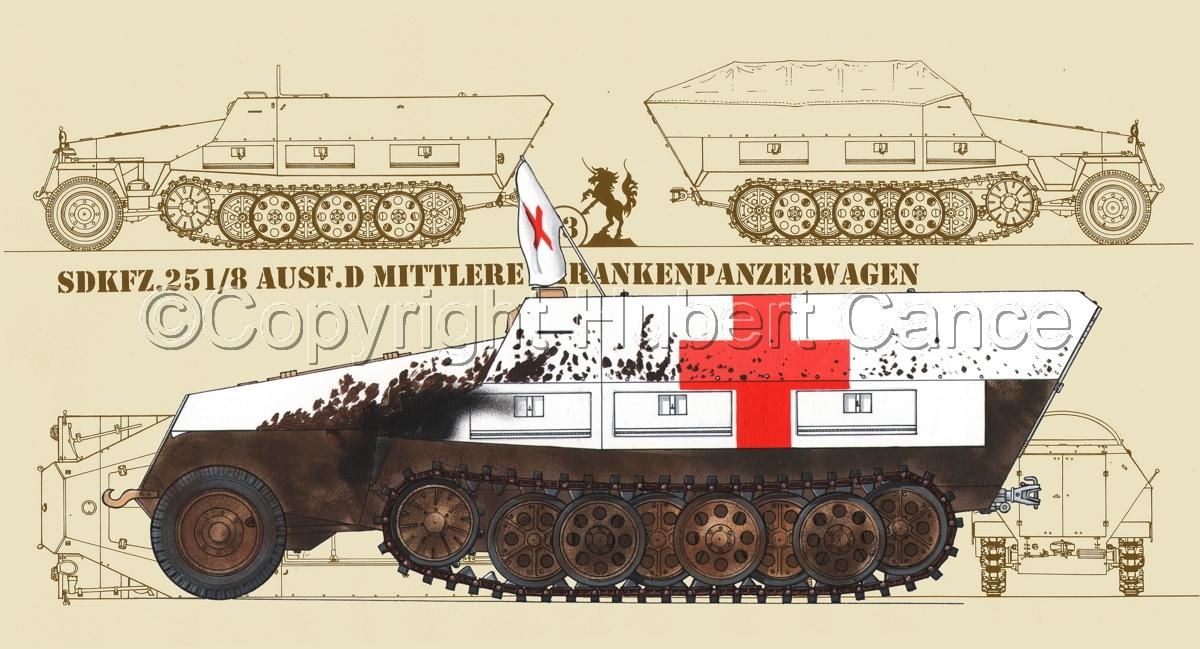 SdKfz.251/8 Ausf.D Mittlerer Krankenpanzerwagen (Blueprint #5) (large view)