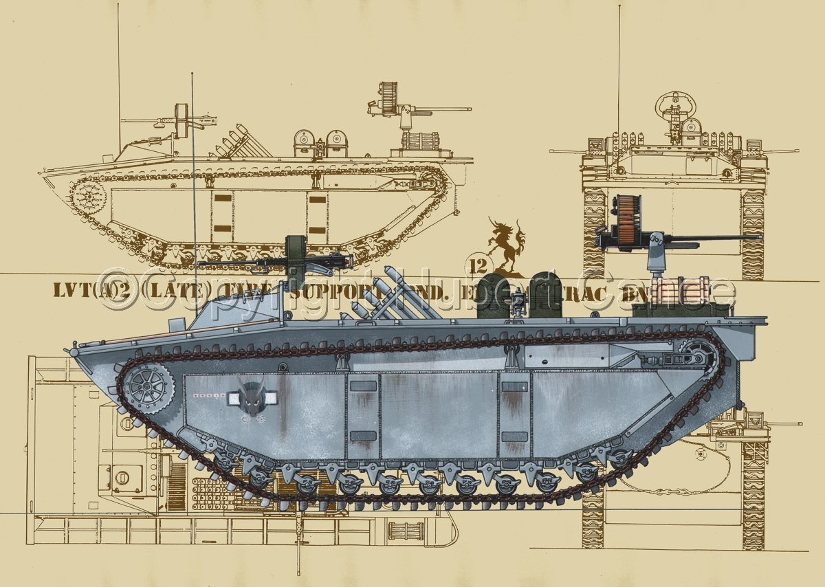 LVT(A)2 Fire Support Amtrac (Blueprint #5) (large view)