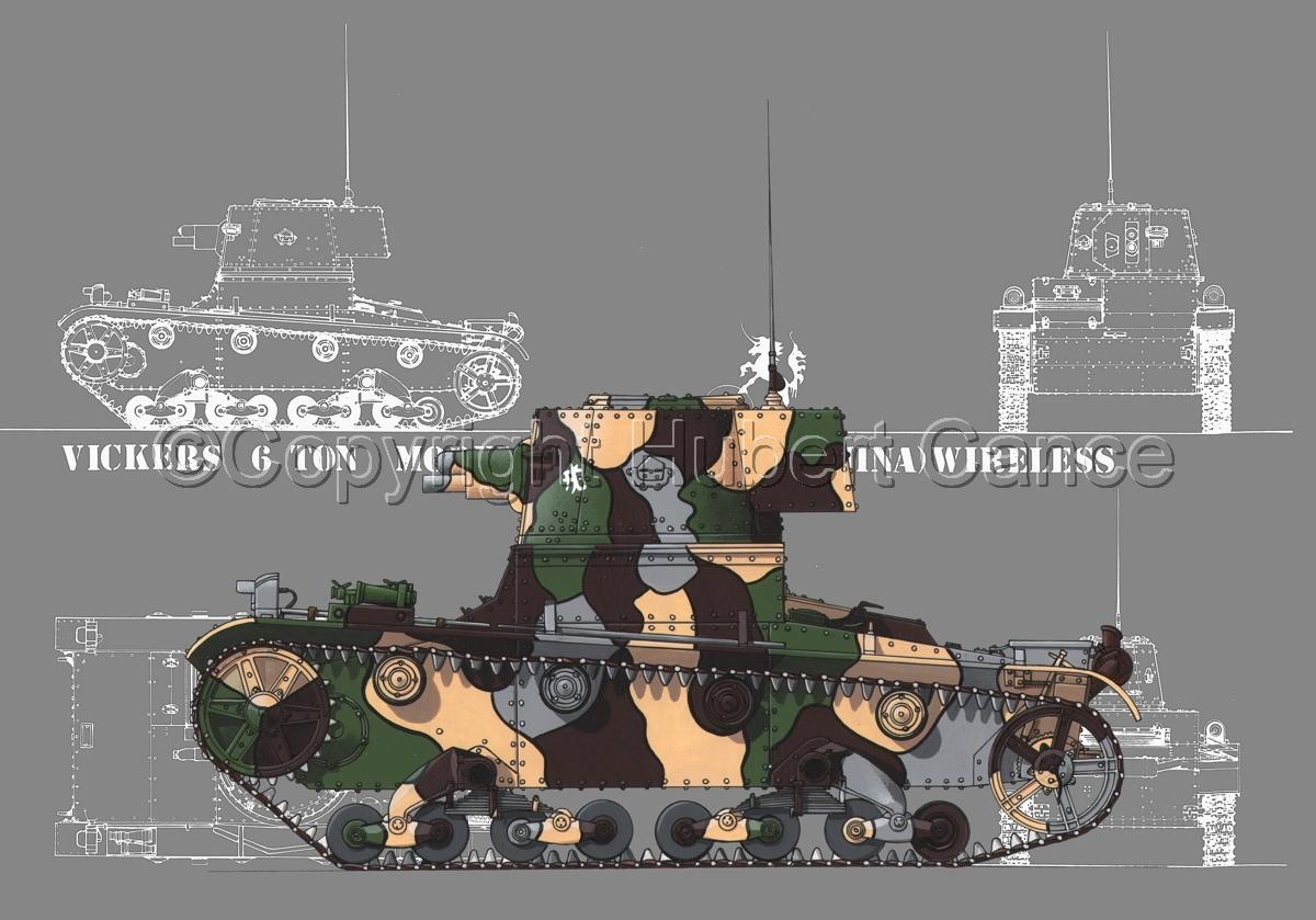 Vickers 6 Ton. Tank Model E (Blueprint #4) (large view)