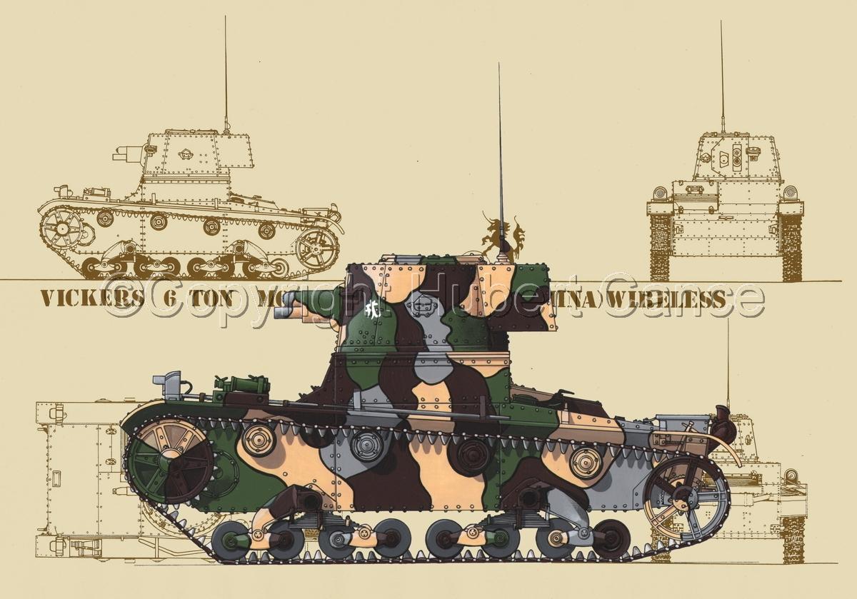 Vickers 6 Ton. Tank Model E (Blueprint #5) (large view)