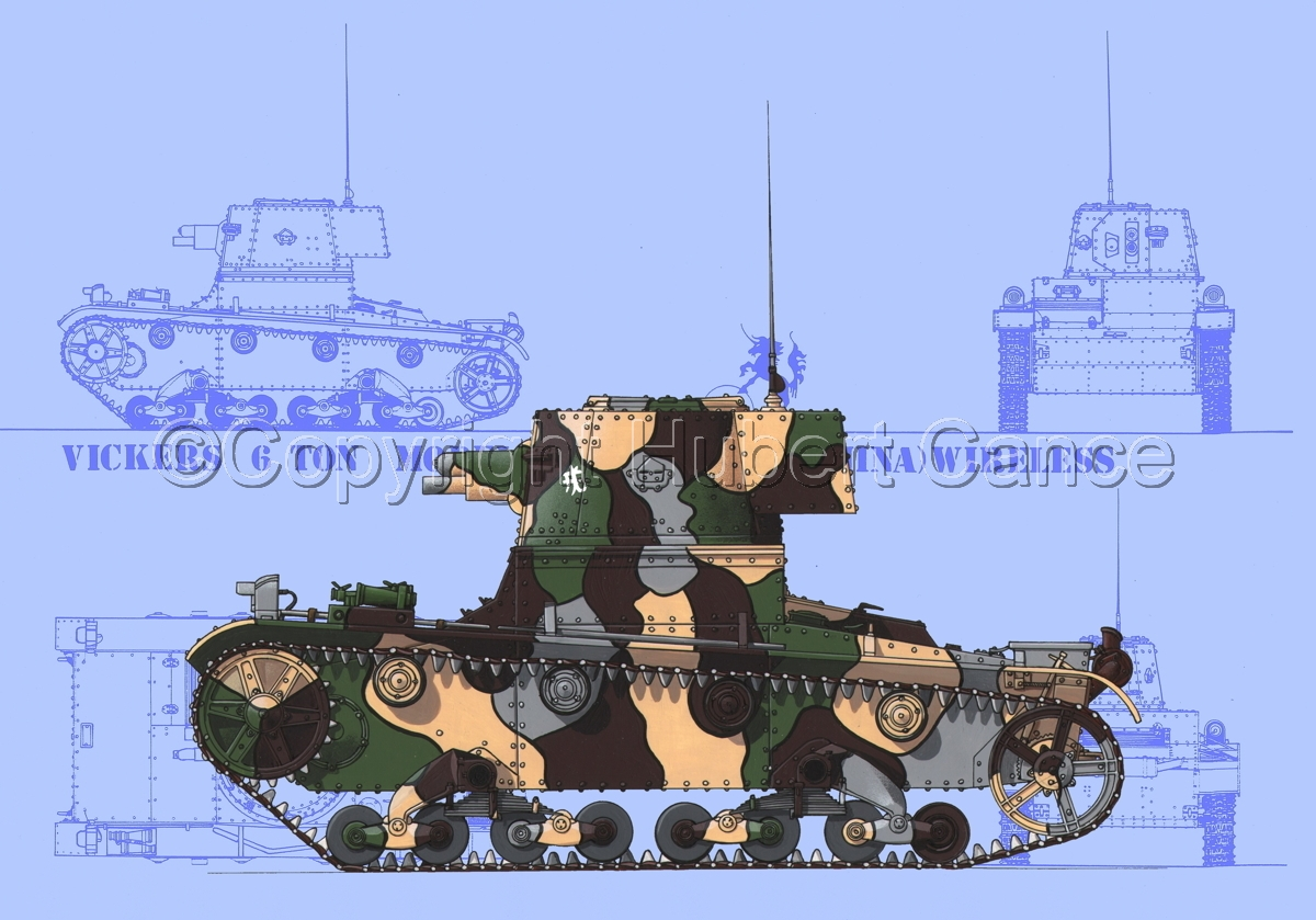 Vickers 6 Ton. Tank Model E (Blueprint #1) (large view)