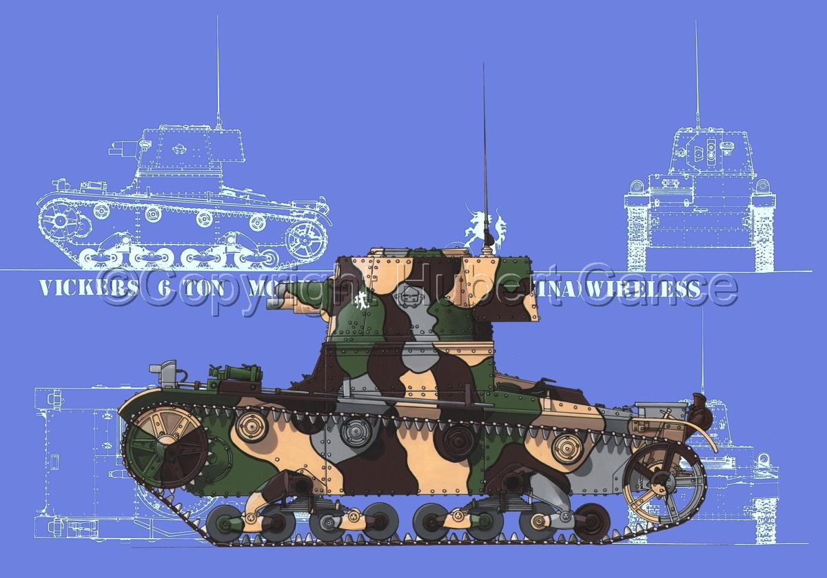 Vickers 6 Ton. Tank Model E (Blueprint #2) (large view)