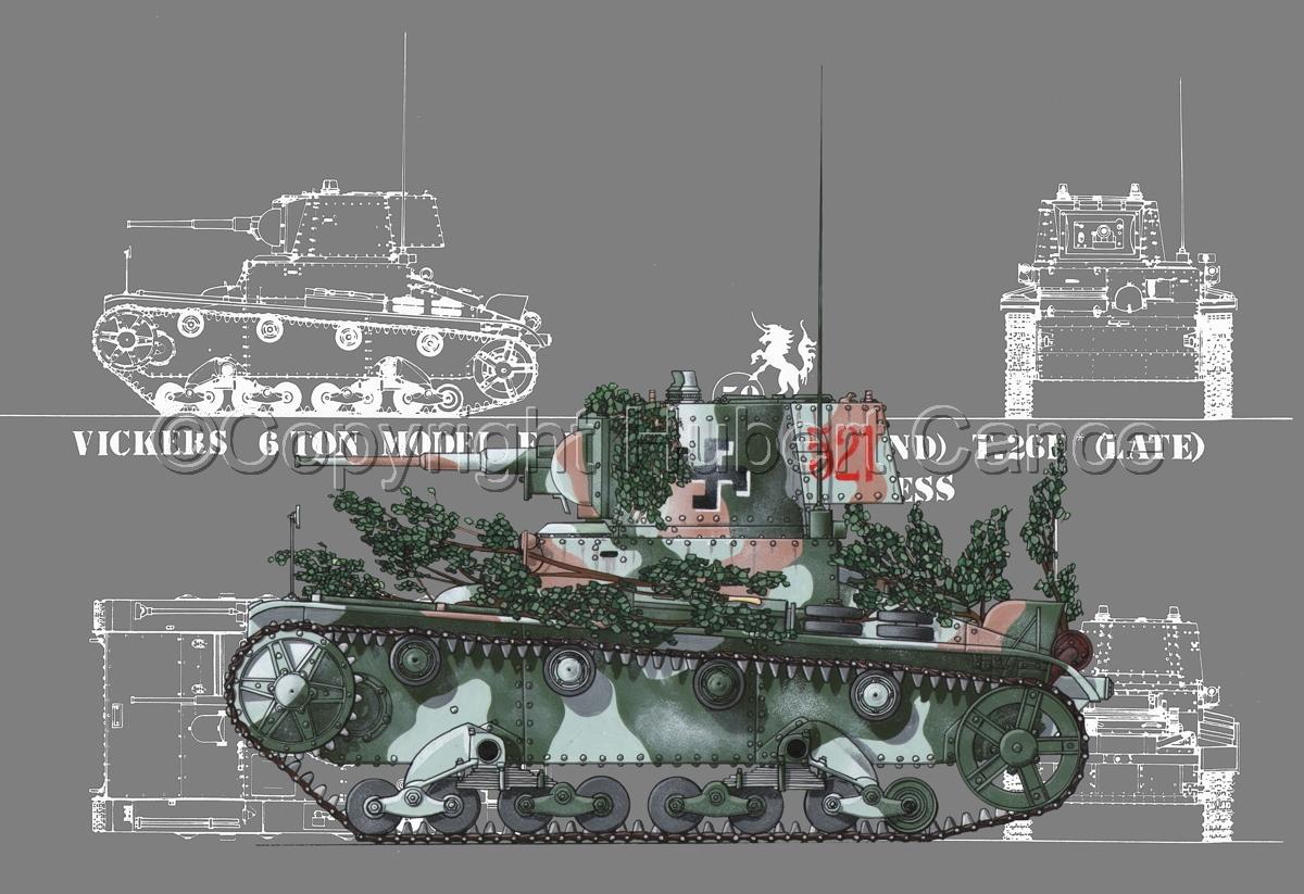 Vickers T-26E (Blueprint #4) (large view)
