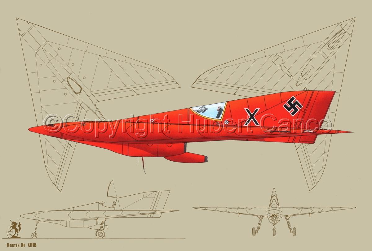 Horten Ho XIIIb (Blueprints #3) (large view)