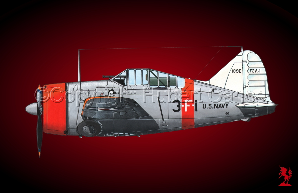 "Brewster F2A-1 ""Buffalo"" #1bis.4 (large view)"