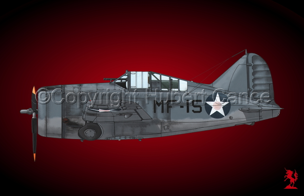 "Brewster F2A-3 ""Buffalo"" #1.4 (large view)"