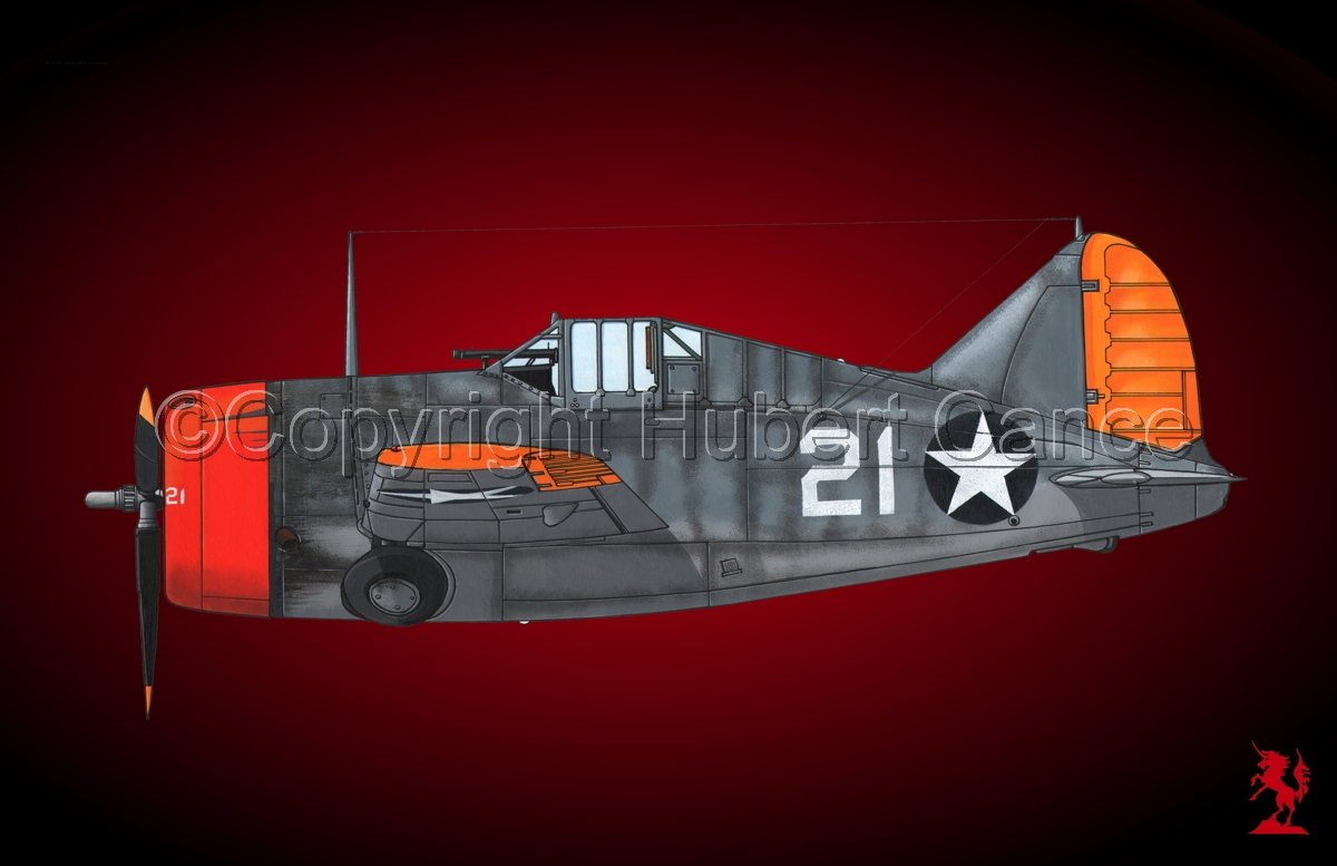 """Brewster F2A-3 """"Buffalo"""" #2.4 (large view)"""