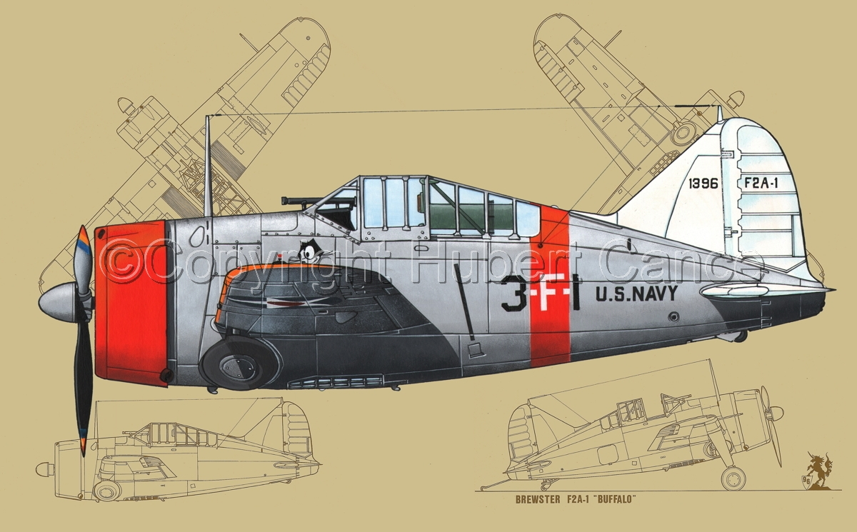 Painting brewster f2a 1 buffalo 1bis blueprint 3 original brewster f2a 1 buffalo 1bis blueprint 3 malvernweather Choice Image