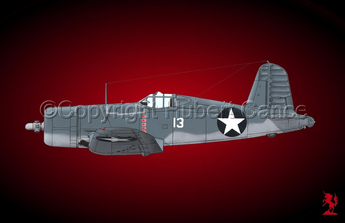 """Chance-Vought F4U-1 """"Corsair"""" #4 (large view)"""