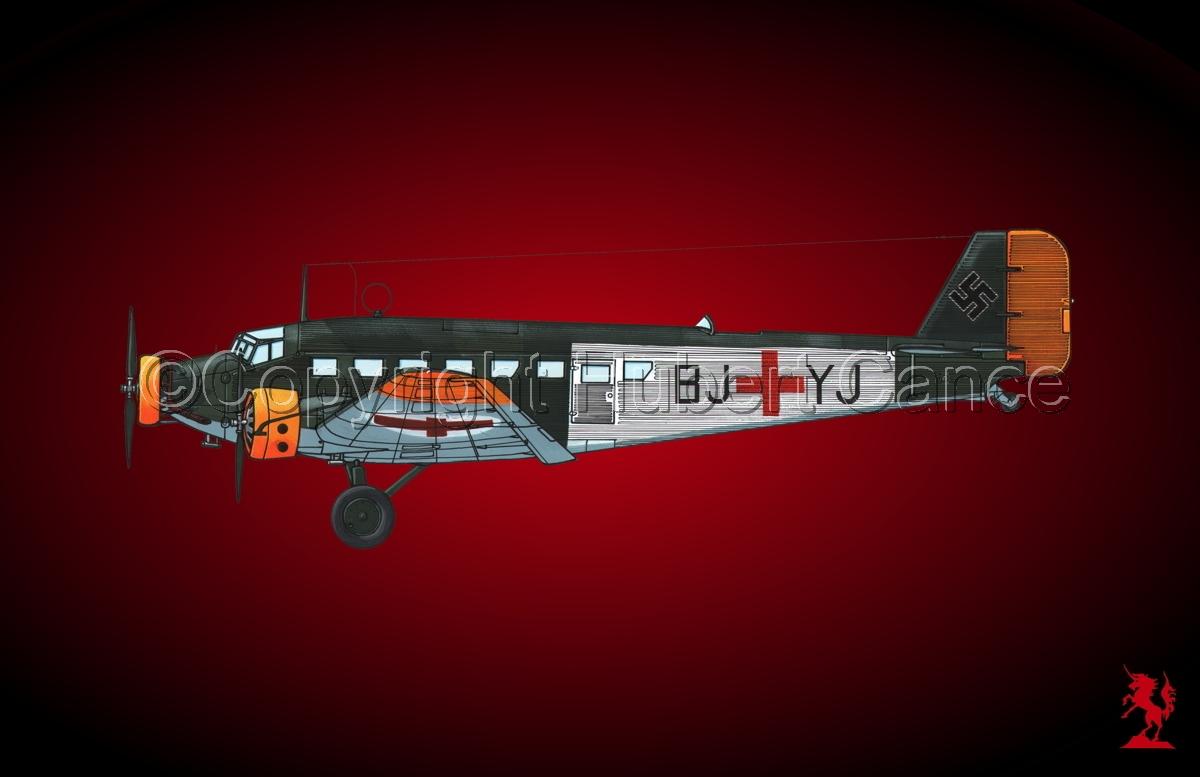 Junkers Ju 52/3m Sanitätsflugzeug  #1.4 (large view)