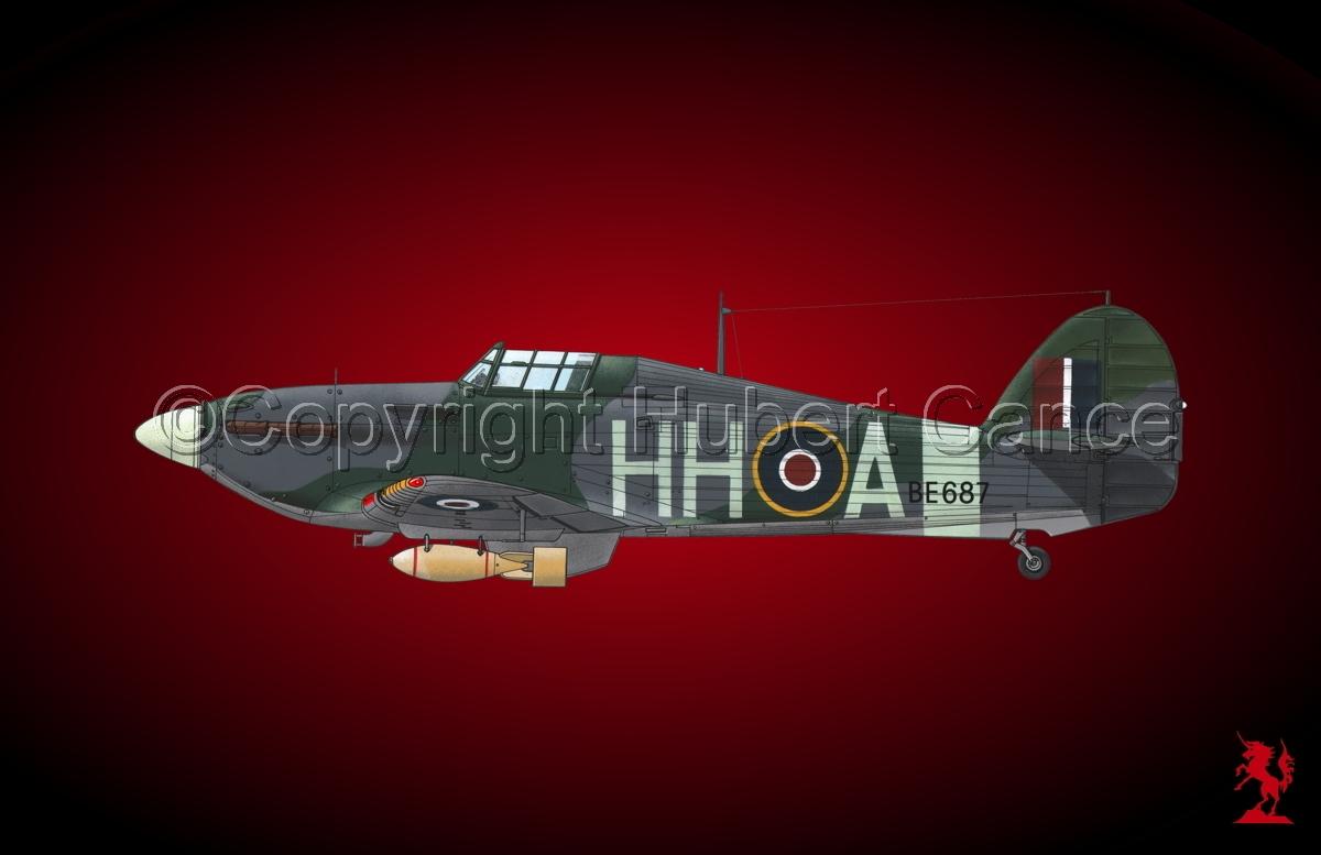 """Hawker """"Hurricane"""" Mk.IIb """"Hurribomber"""" #1bis.4 (large view)"""