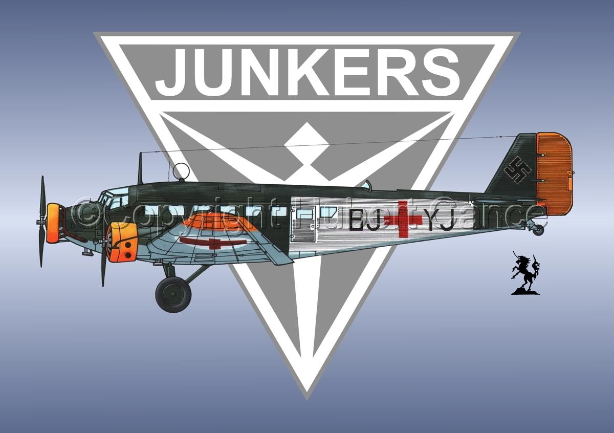 Junkers Ju 52/3m Sanitätsflugzeug (Logo #1) (large view)