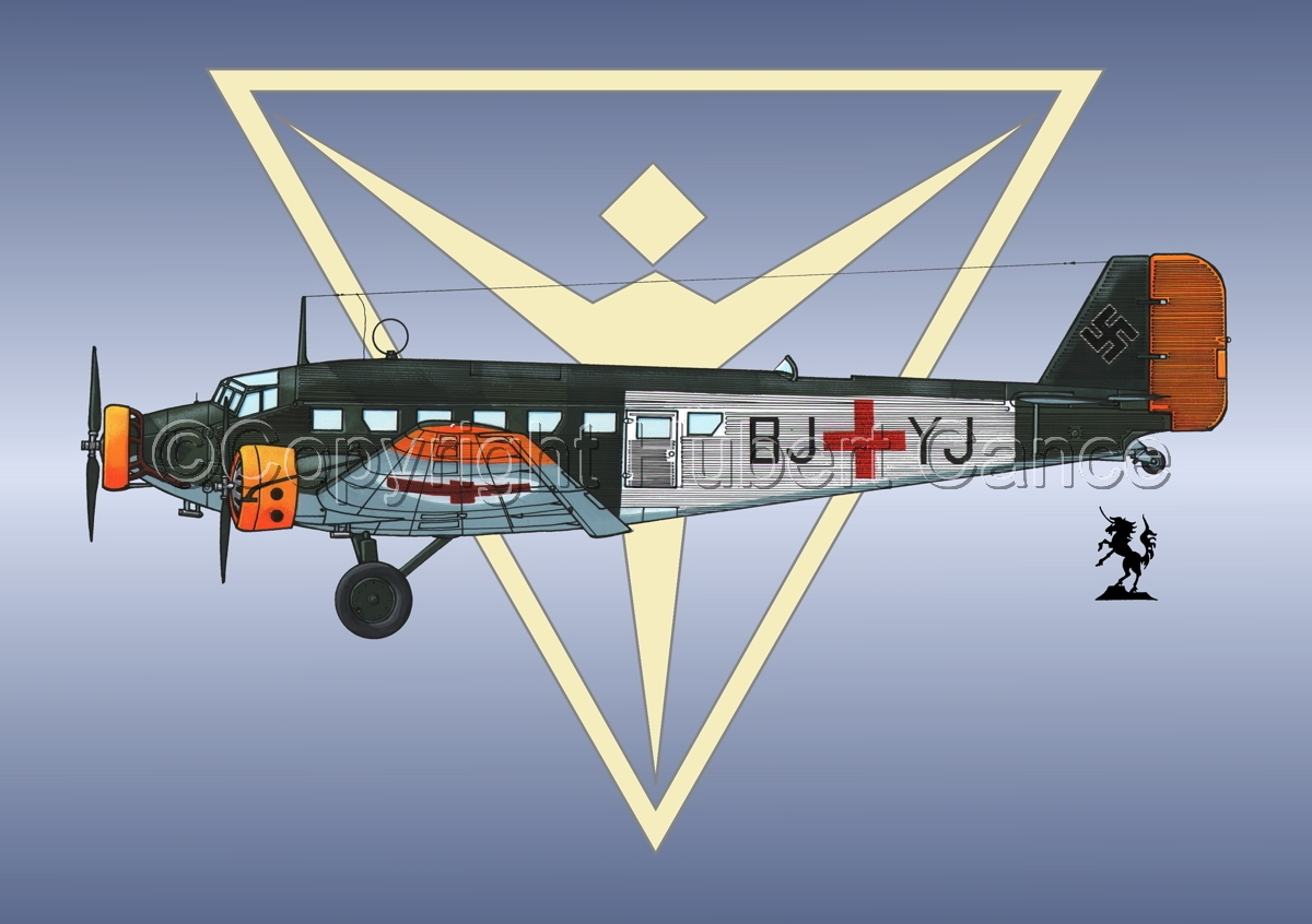 Junkers Ju 52/3m Sanitätsflugzeug (Logo #2) (large view)