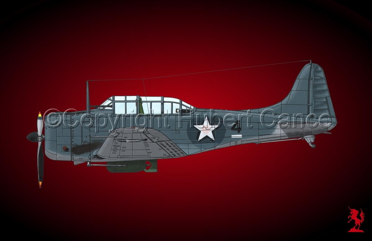 """Douglas SBD-3 """"Dauntless"""" #2.4 (large view)"""