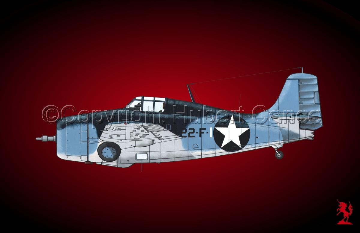 """Grumman F4F-4 """"Wildcat"""" #3.4 (large view)"""