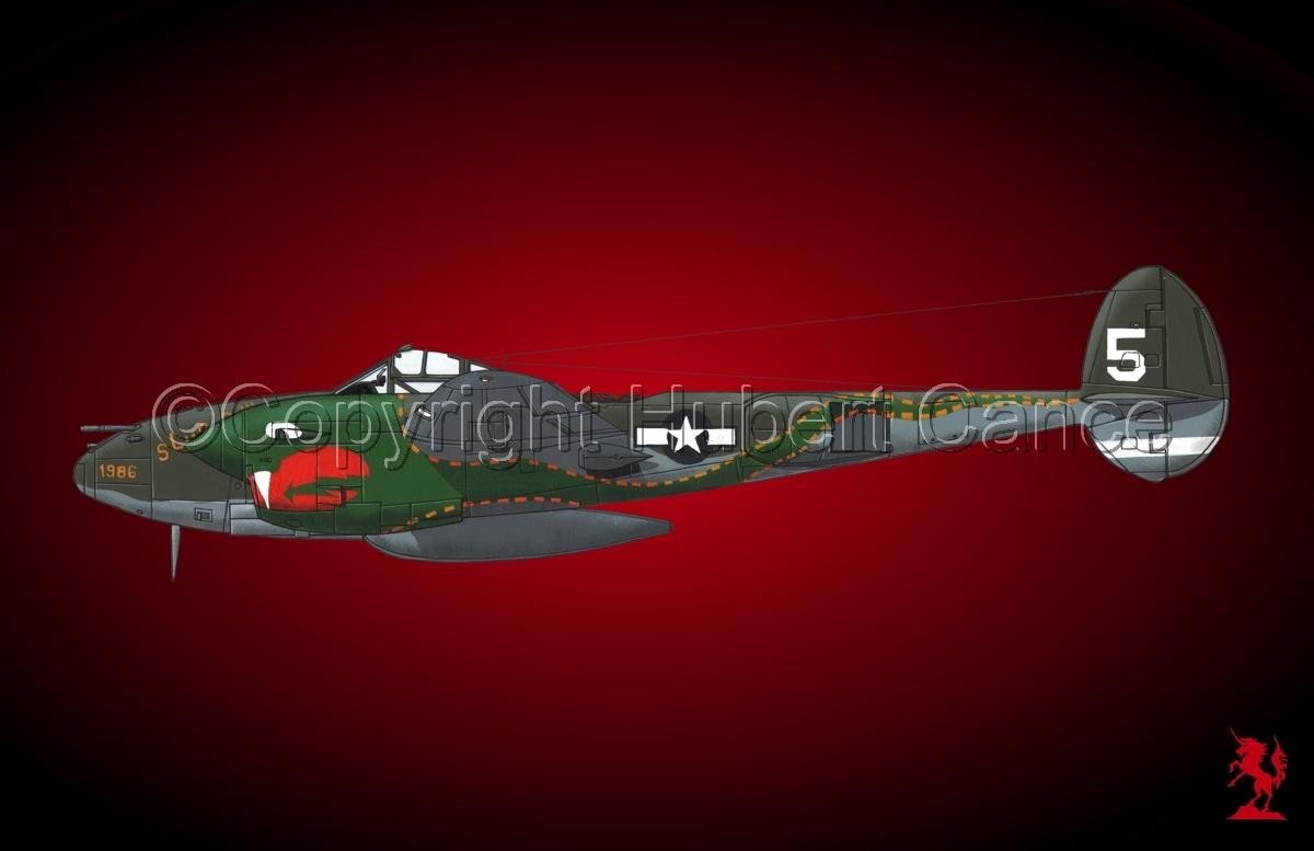 """Lockheed P-38J """"Lightning""""#1bis.4 (large view)"""