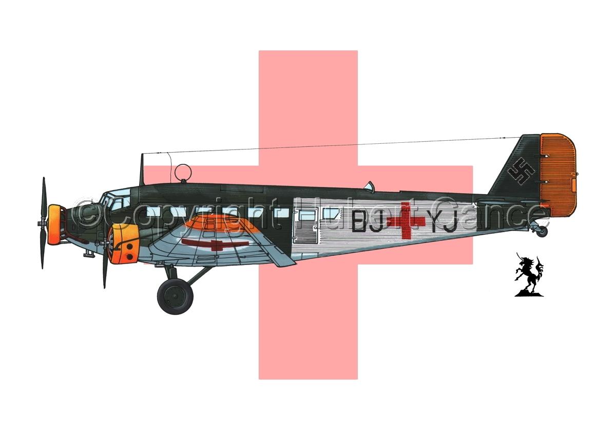Junkers Ju 52/3m Sanitätsflugzeug (Flag #2) (large view)