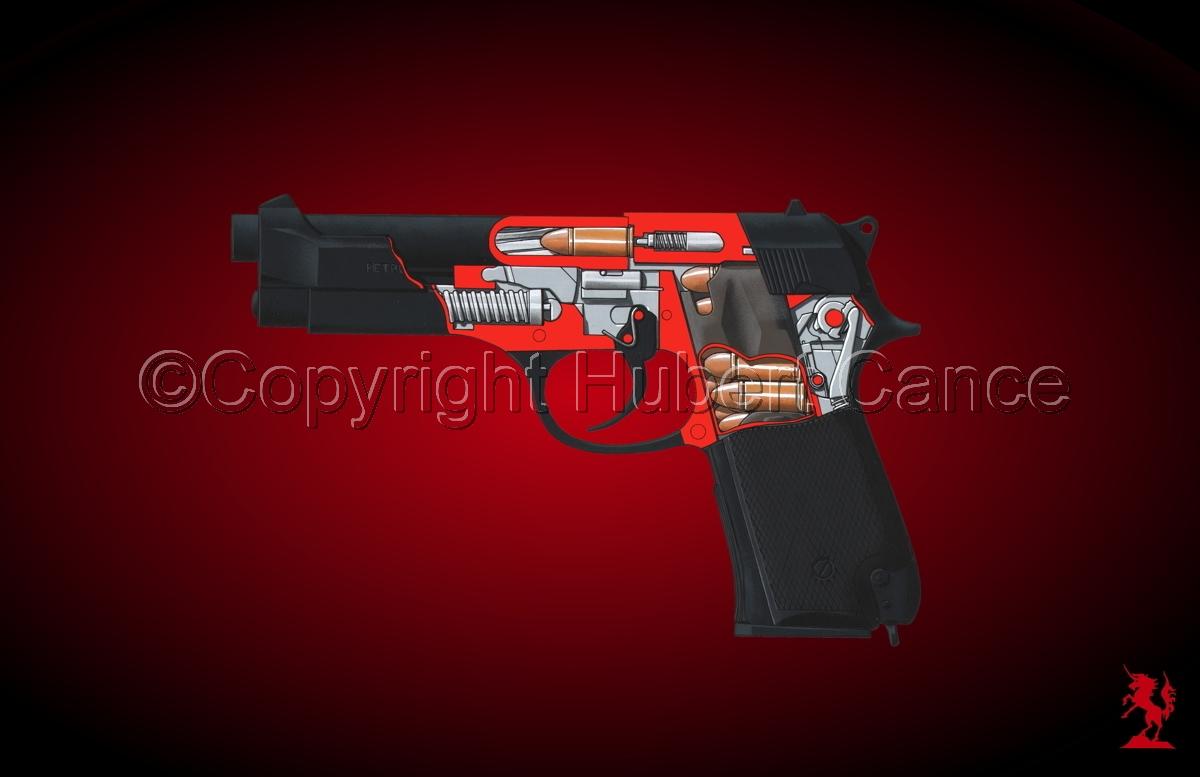Beretta M9-92F (Cutaway #4) (large view)
