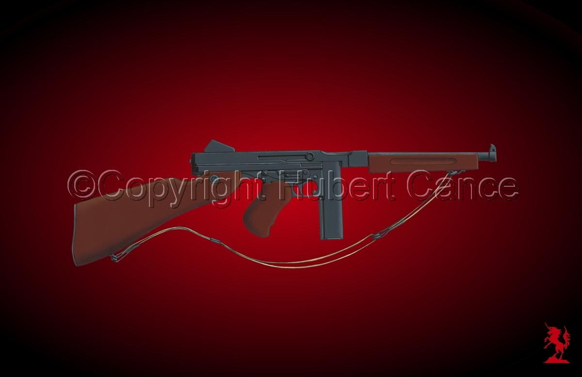 Thompson M1A1 Machine-Gun #4 (large view)