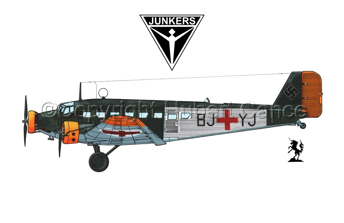 Junkers Ju 52/3m Sanitätsflugzeug (Logo #1.1) (large view)