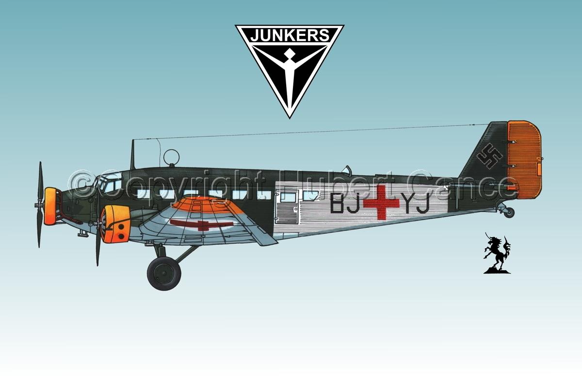Junkers Ju 52/3m Sanitätsflugzeug (Logo #1.3) (large view)