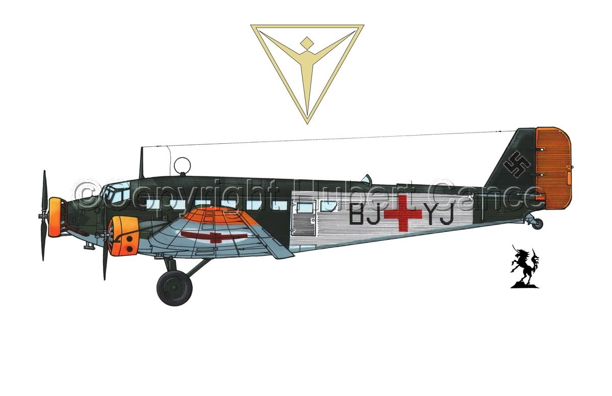 Junkers Ju 52/3m Sanitätsflugzeug (Logo #2.1) (large view)