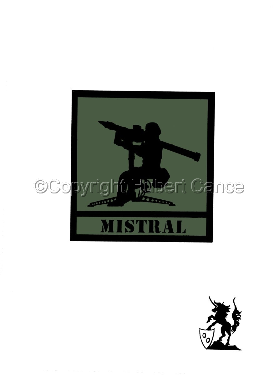 "Sticker: ""Mistral"" patch. (large view)"