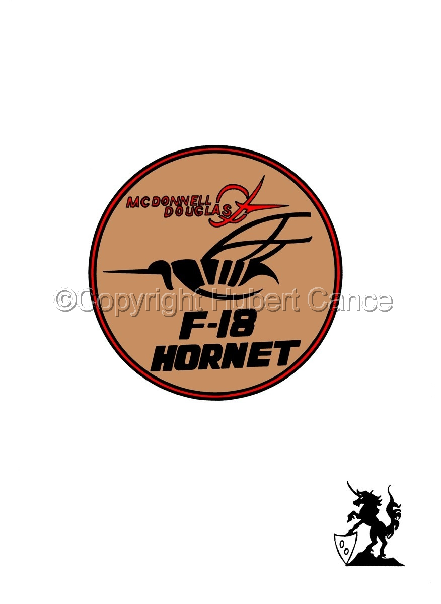 "Sticker: McDD F/A-18 ""Hornet"" patch (large view)"