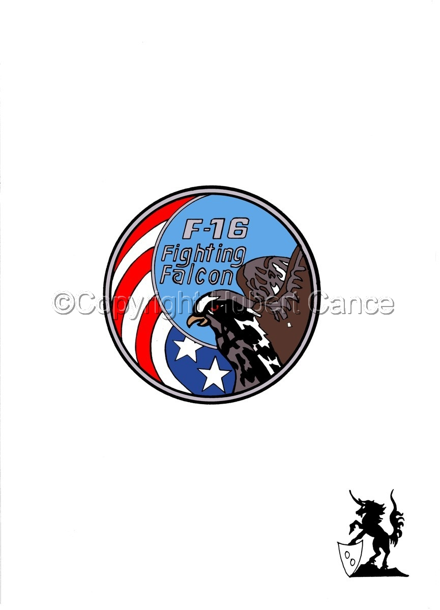 "Sticker: General Dynamics F-16 ""Fighting Falcon"" (large view)"