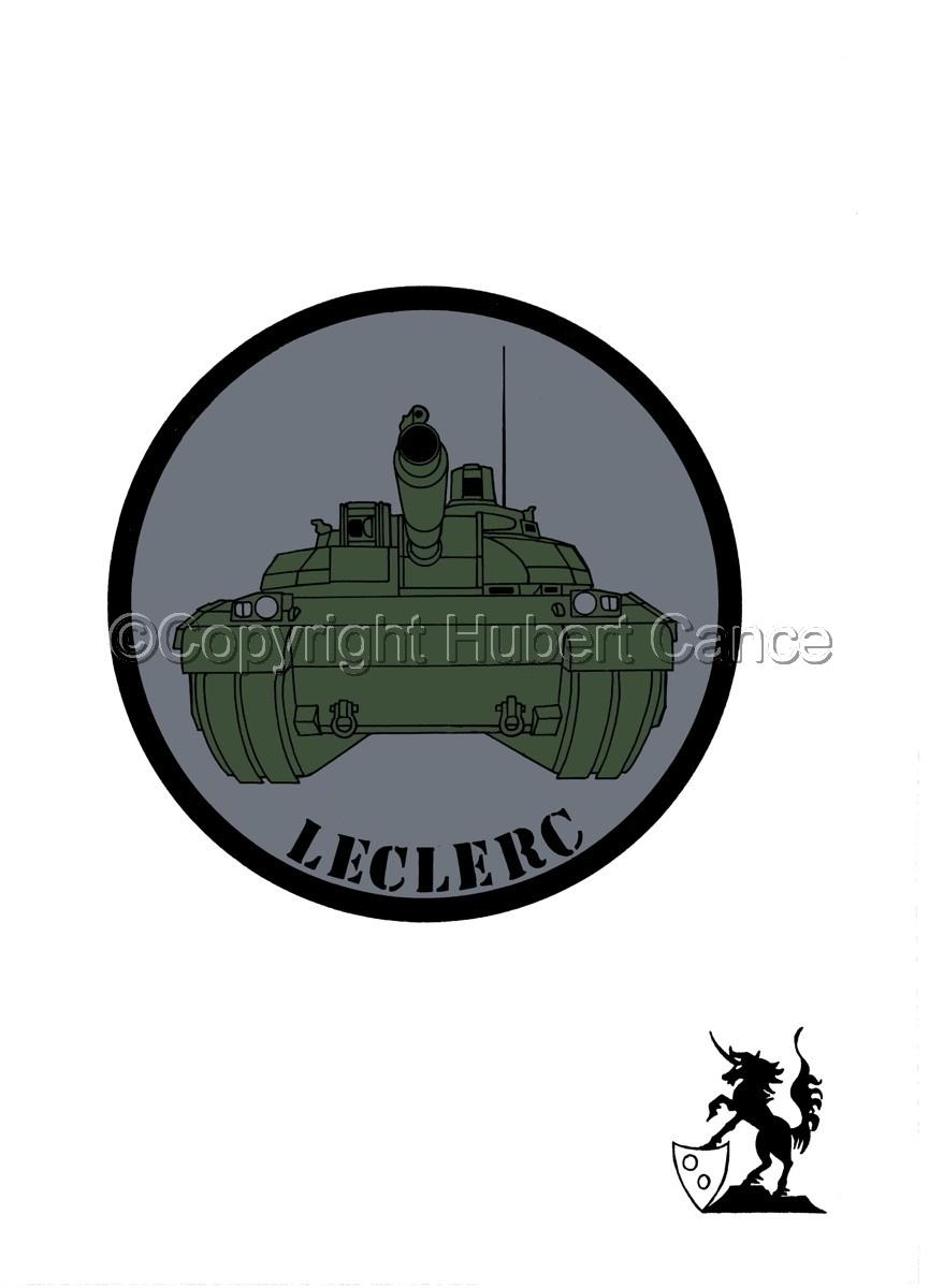 Sticker: Char Leclerc patch. (large view)